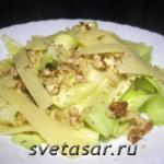 Салат: кабачок, орех и сыр