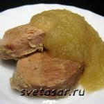 Яблочный соус к мясу