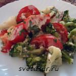 Овощи запеченные в йогуртовом соусе