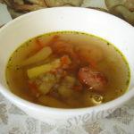 Гречневый суп с сосисками