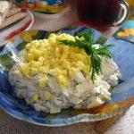 Творожный завтрак с яйцом